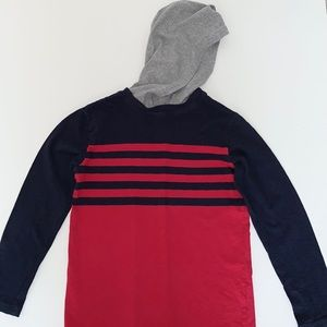 Children's Place Boys Striped Long Sleeve Hoodie